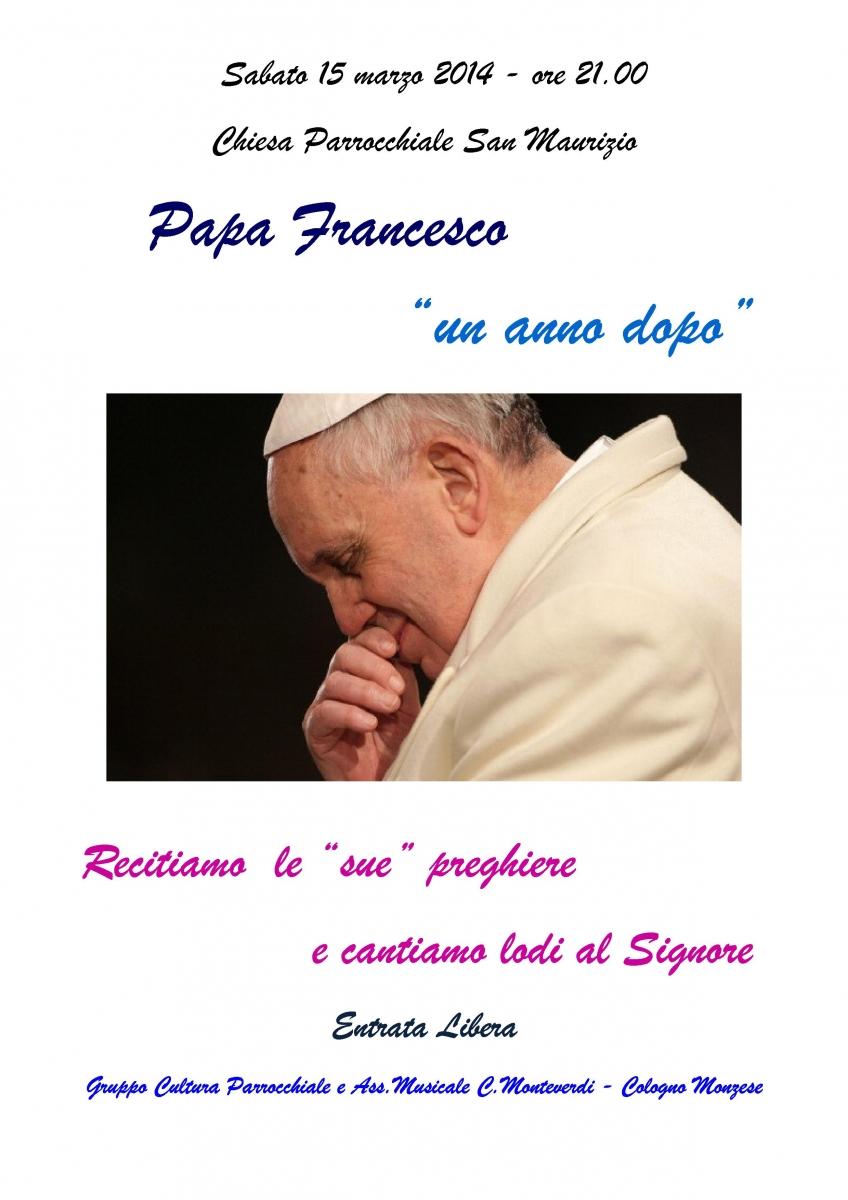 Papa Francesco.LOCANDINA