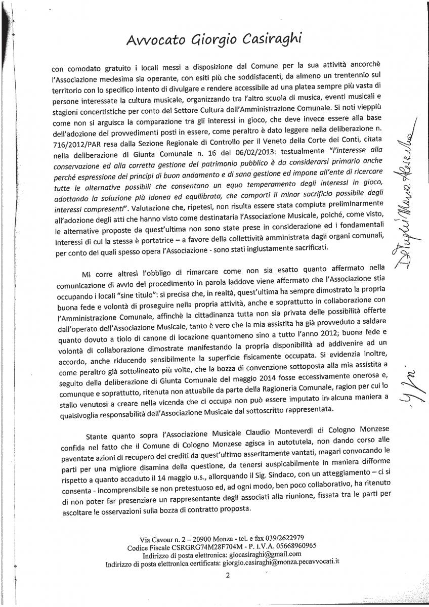 lettera avv Casiraghi - Assoc.Music.C.Monteverdi 2