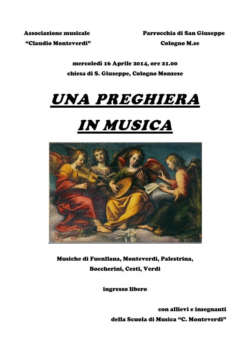 locandina - Una preghiera in musica 2014 san giuseppe