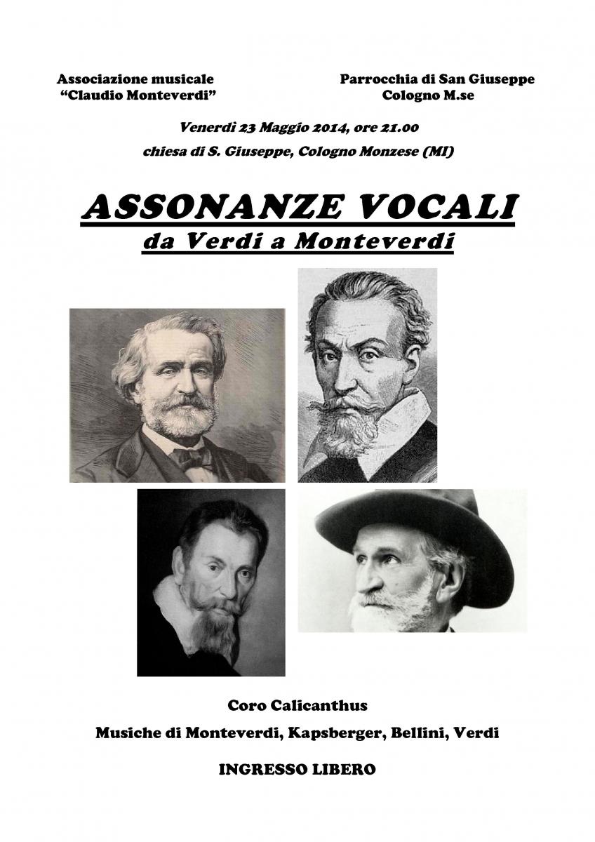 locandina - Assonanze vocali  San giuseppe 23 mag 2014