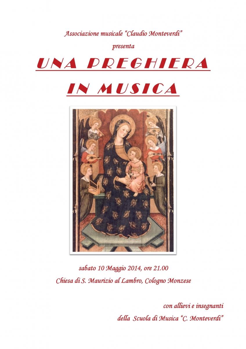 locandina - Una preghiera in musica 2014