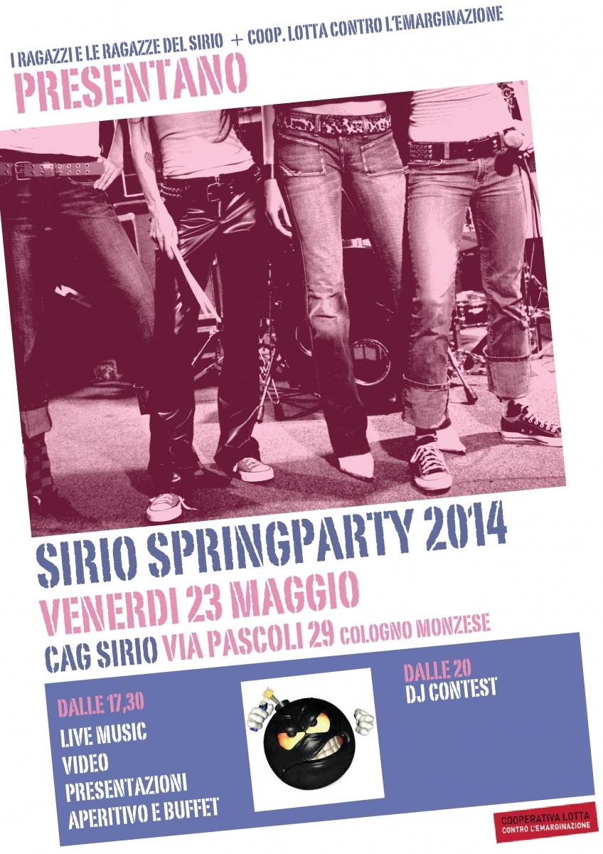 volantino sirio spring party
