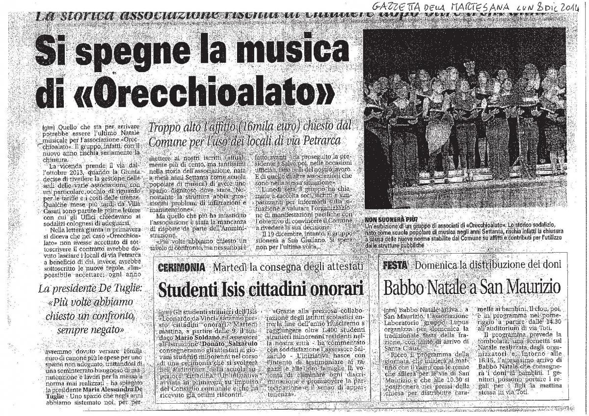 Si spegne la musica di Orecchioalato