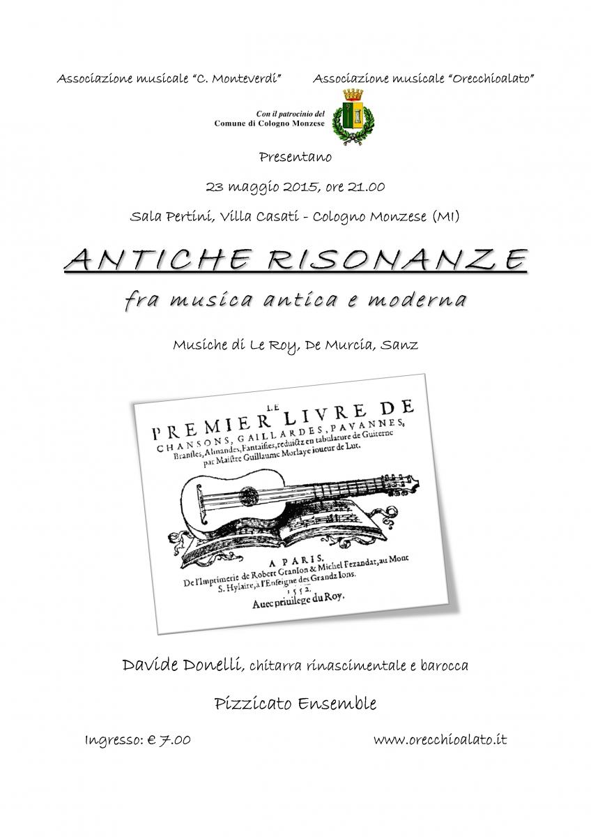 Locandina ANTICHE RISONANZE 23 mag 15