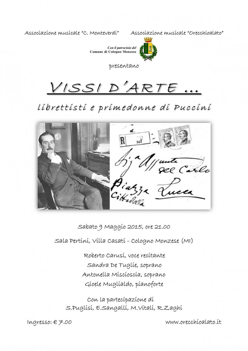 Locandina VISSI D'ARTE 9 maggio 2015