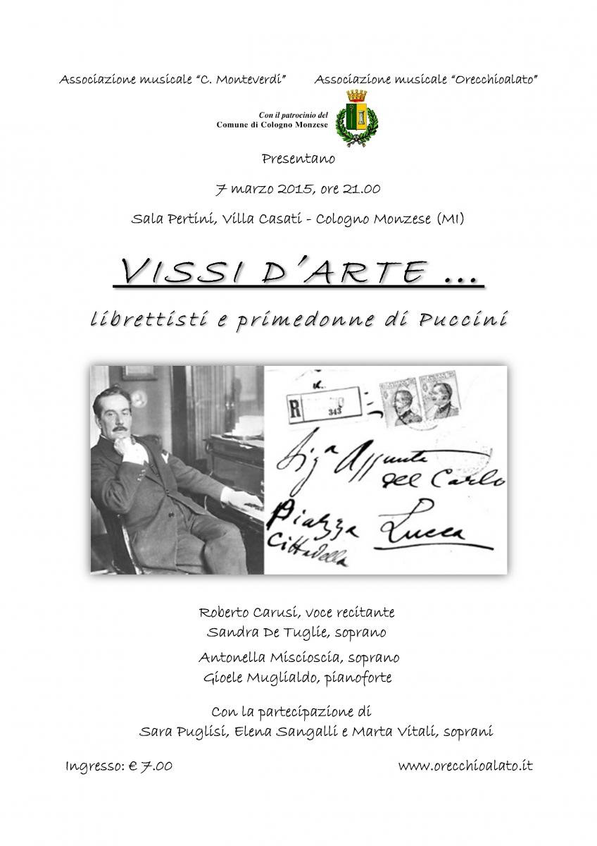 locandina VISSI D'ARTE 7 mar 15