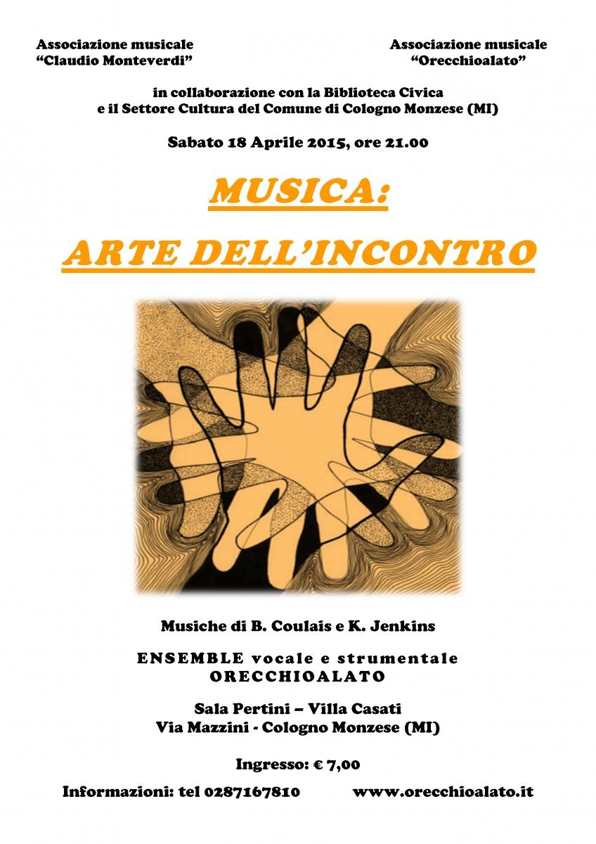 locandina - Musica arte dell'incontro 18 aprile orange