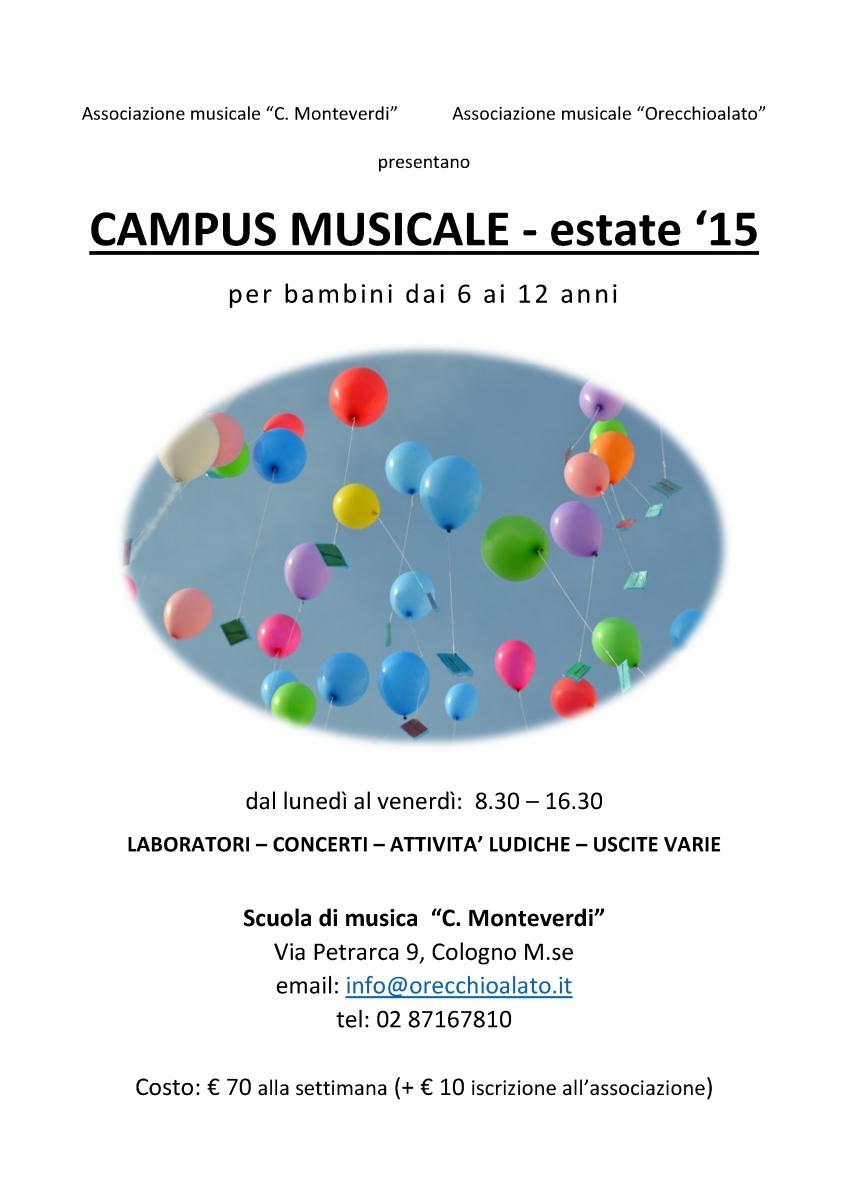 CAMPUS MUSICALE 2015 locandina