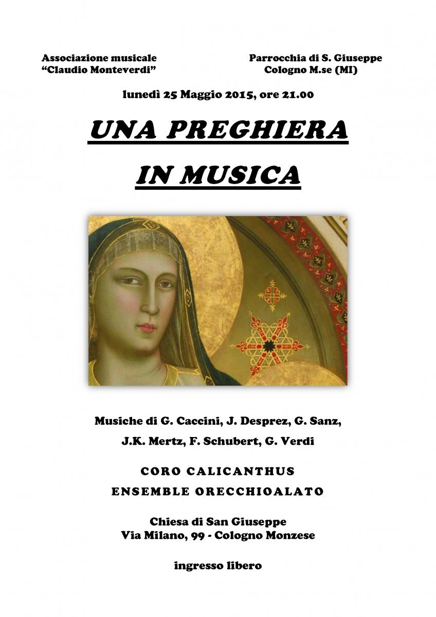 locandina - Una preghiera in musica 25 maggio 2015 san giuseppe