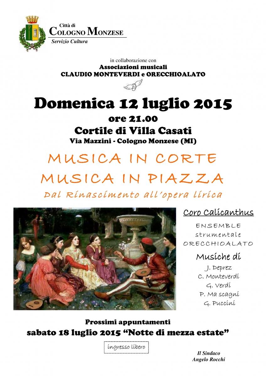 Locadina MUSICA DI CORTE MUSICA DI PIAZZA 12 lug 15