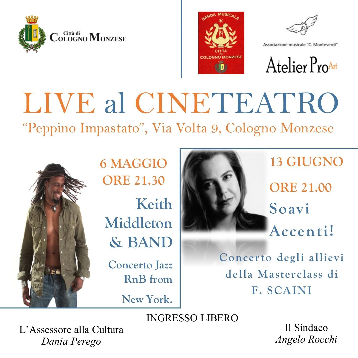locandina Live al Cineteatro